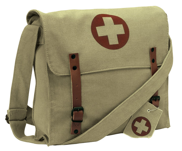 Vintage Medic Bag with Cross