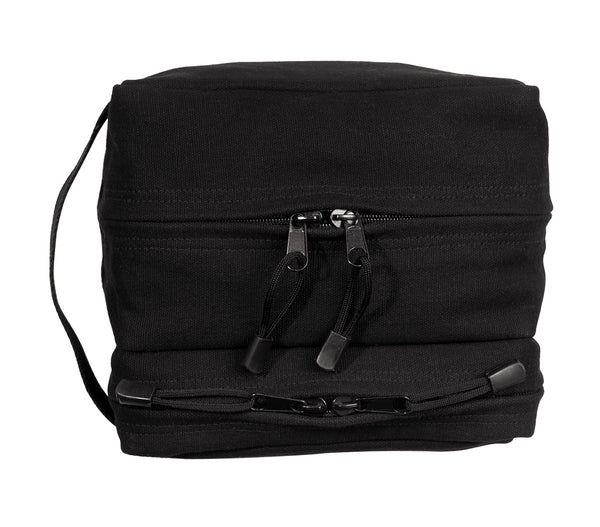 Canvas Dual Compartment Travel Kit