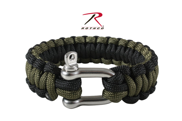 Paracord Bracelet w/ D-Shackle - Delta Survivalist