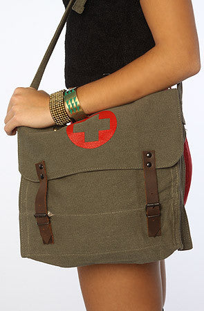 Vintage Medic Bag with Cross - Delta Survivalist