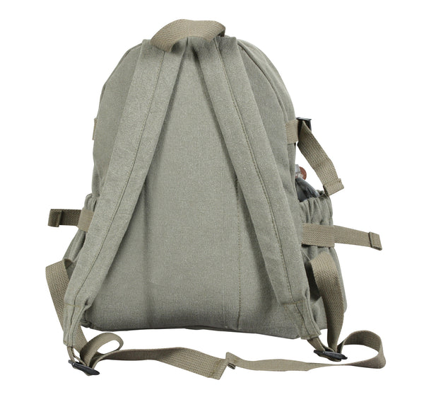 Vintage Canvas Compact Backpack - Delta Survivalist