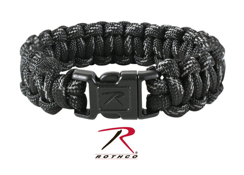Black with Reflective Paracord Bracelet - Delta Survivalist