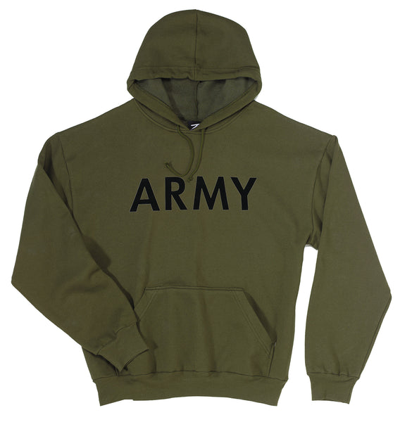 Army Pullover Hooded Sweatshirt