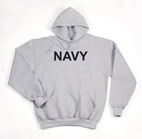 Navy Pullover Hooded Sweatshirt - Grey - Delta Survivalist