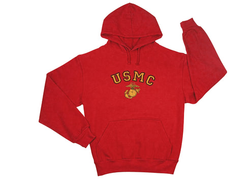 USMC Globe & Anchor Pullover Hooded Sweatshirt - Delta Survivalist