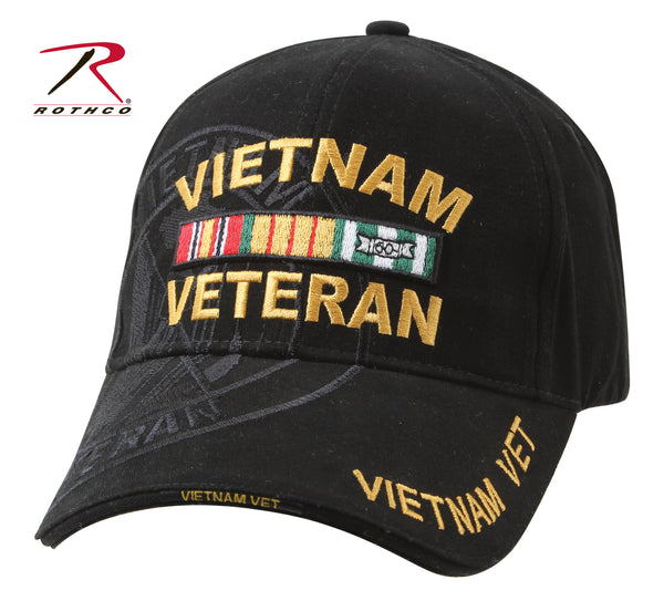 Deluxe Vietnam Veteran Military Low Profile Shadow Caps