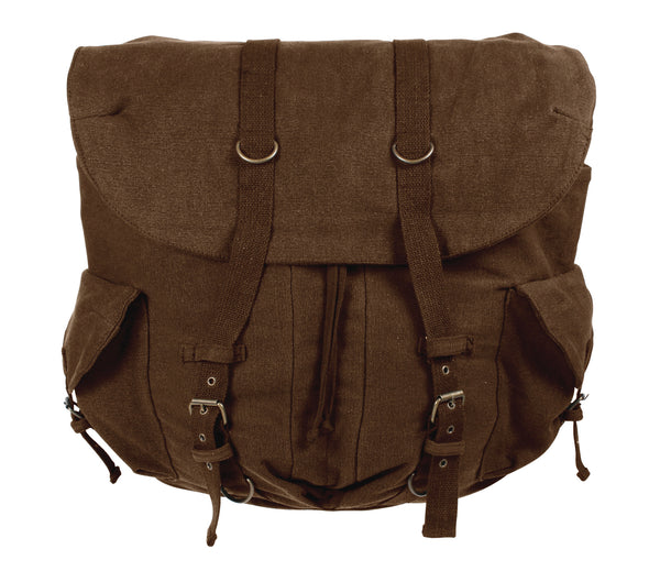 Vintage Weekender Canvas Backpack - Delta Survivalist