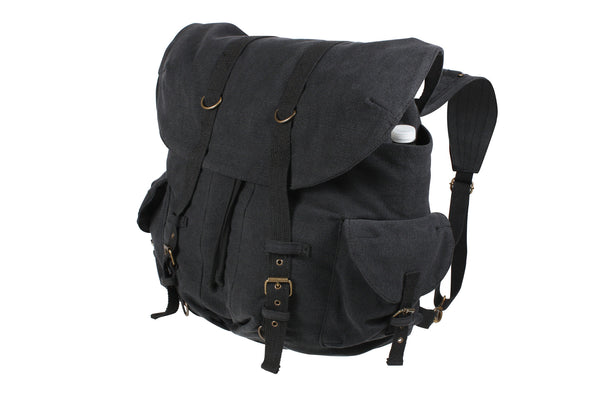Vintage Weekender Canvas Backpack