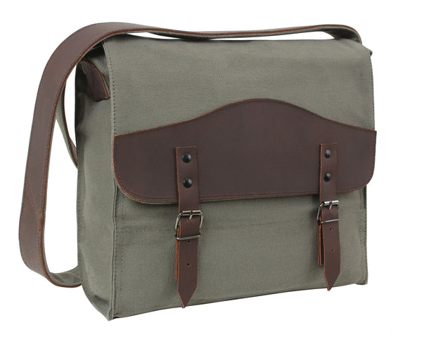 Vintage Canvas Medic Bag w/ Leather Accents - Delta Survivalist