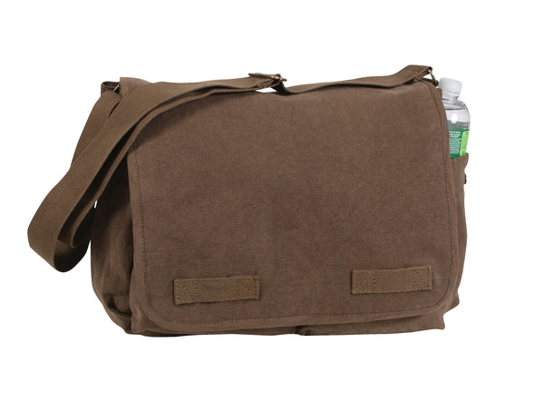 Vintage Washed Canvas Messenger Bag - Delta Survivalist