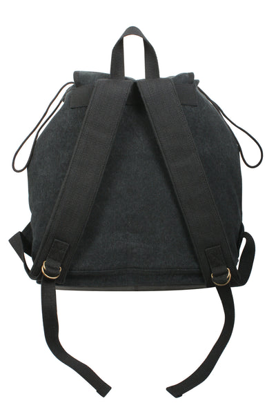Vintage Canvas Wayfarer Backpack with Leather Accents - Delta Survivalist