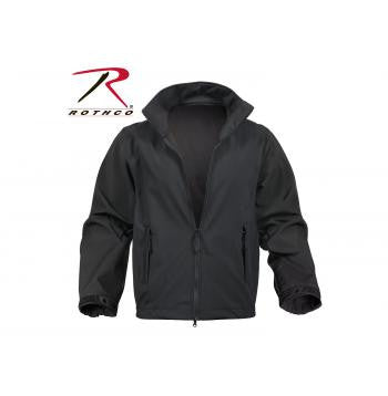 Black Soft Shell Uniform Jacket - Delta Survivalist