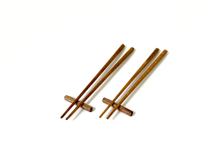 White Oak Planed Chopsticks with rest