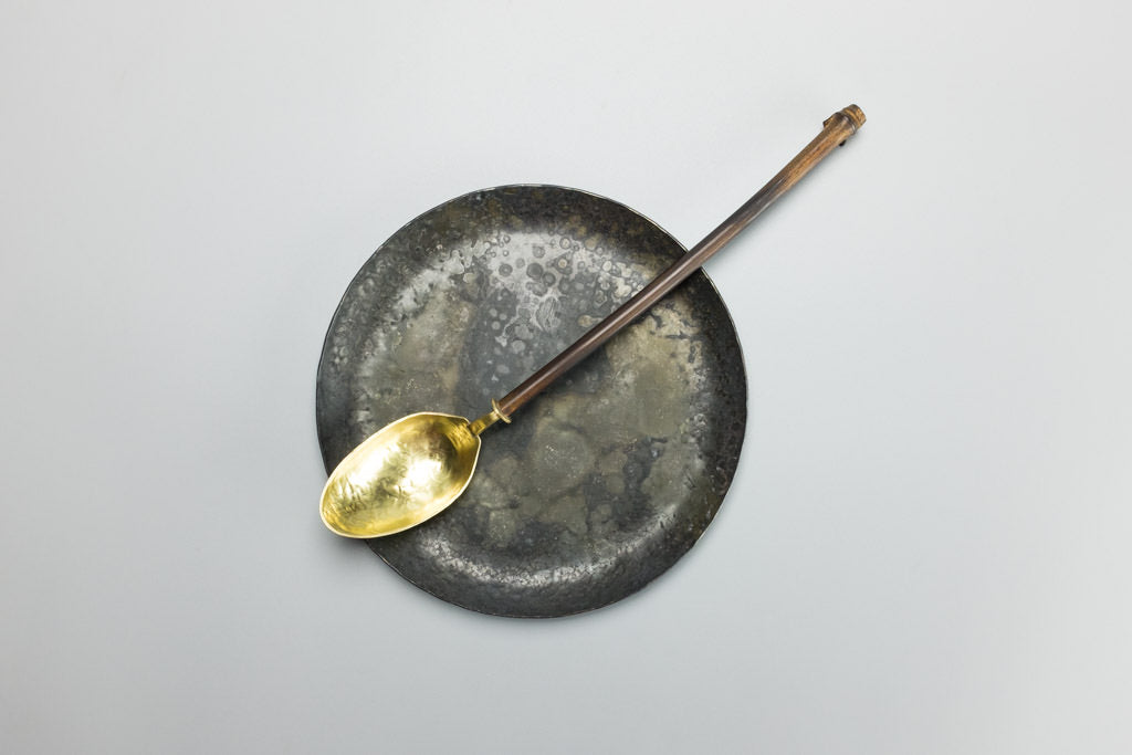 Bamboo and Brass Spoon