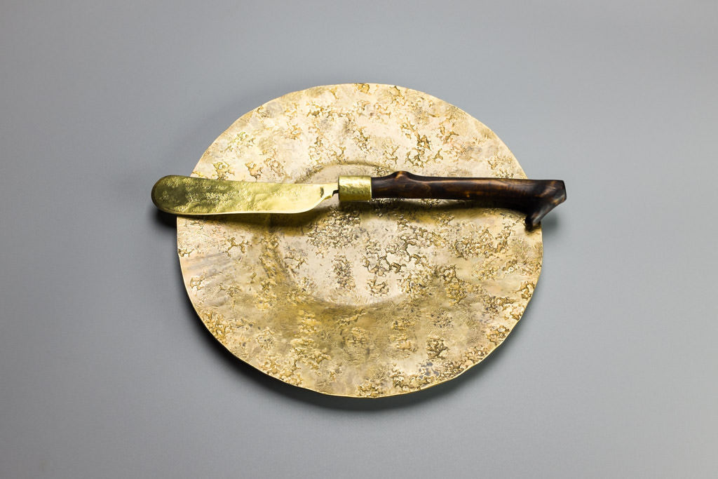 Branch Butter Knife on Brass Railroad Plate