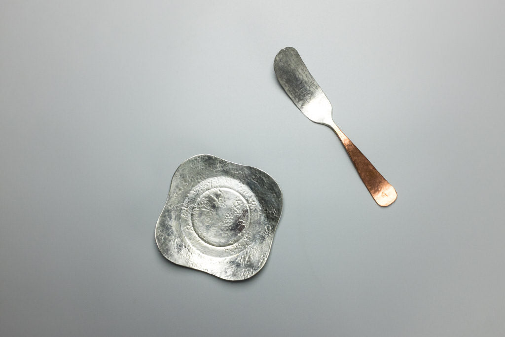 Tinned Petal Dish and Butter Knife
