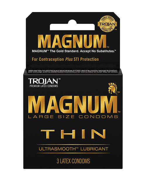 Trojan Magnum Thin Condoms - Box of 3