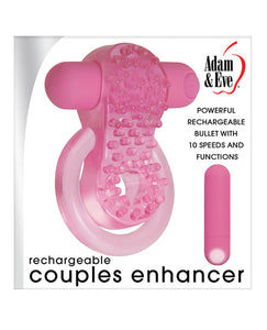 Adam & Eve Couples Enhancer Rechargeable Cock Ring - Pink