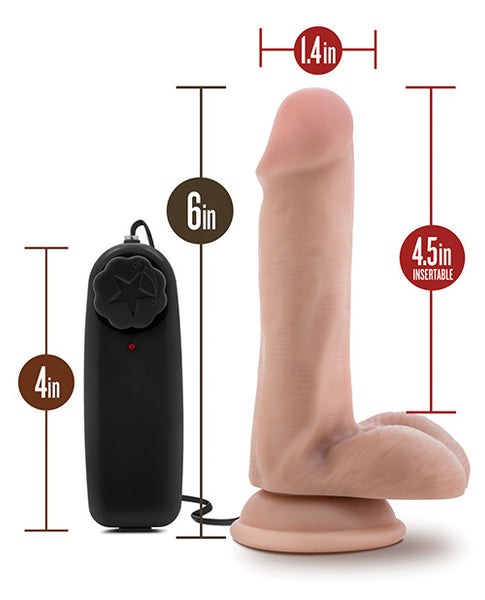 "Blush Dr. Skin Dr. Rob 6"" Cock w/Suction Cup - Vanilla"