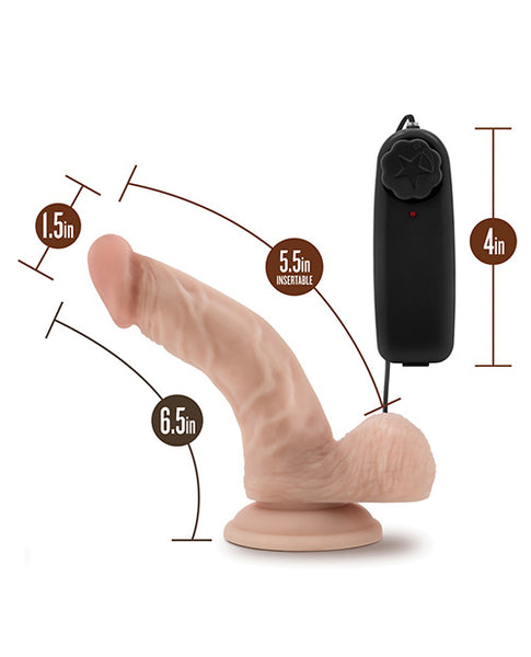 "Blush Dr. Skin Dr. Ken 6.5"" Cock w/Suction Cup - Vanilla"