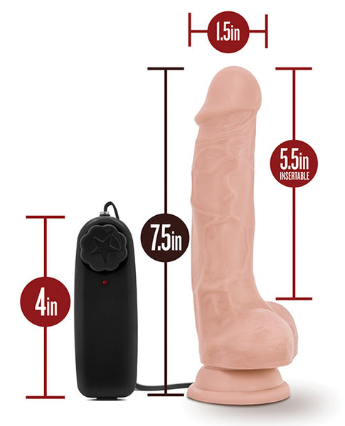 "Blush Dr. Skin Dr. Tim 7.5"" Cock w/Suction Cup - Vanilla"