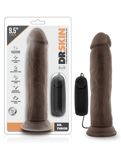 "Blush Dr. Skin Dr. Throb 9.5"" Cock with Suction Cup"