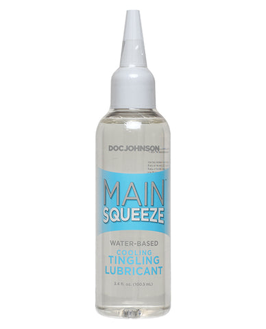 Main Squeeze Cooling/Tingling Water-Based Lubricant - 3.4 oz