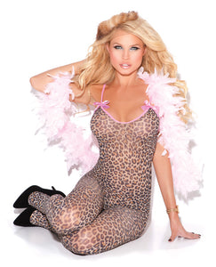 Vivace Bodystocking w/Satin Bows Leopard O/S