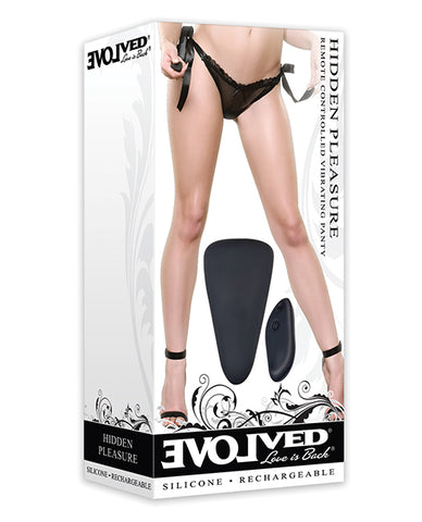Evolved Hidden Pleasure Panty Vibe - Black