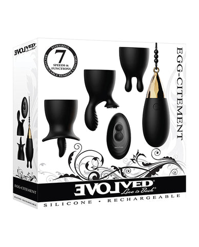 Evolved Egg Citement Rechargeable Bullet - Black/Gold