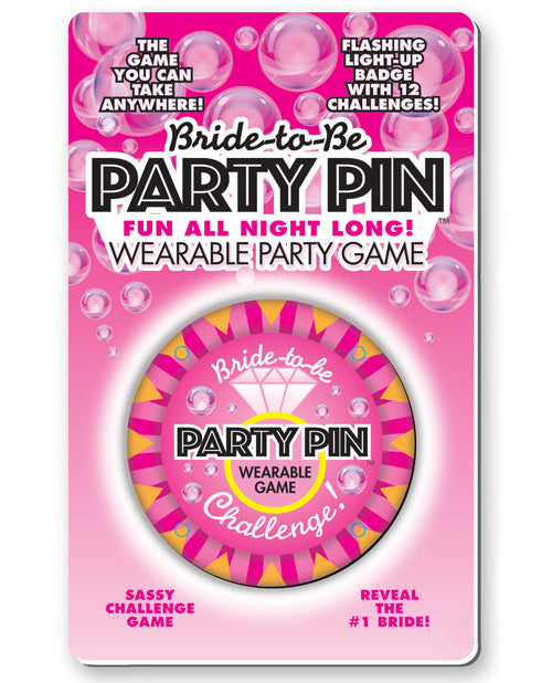 Bride to Be Wearable Party Pin Game