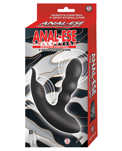 Anal Ese Collection Remote Control P Spot Stimulator - Black