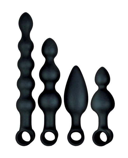 Anal-Ese Collection Vibrating Anal Fantasy Kit - Black