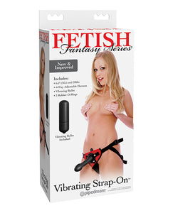 Fetish Fantasy Series Vibrating Jelly Dong Strap-On Set