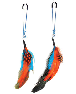 Bijoux de Nip Colored Feather w/Blue Tweezer Clamp