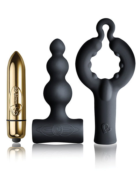 Rocks Off Dark Desires Be Mine Kit - Black/Champagne Gold