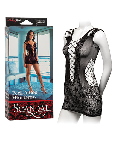 Scandal Peek-A-Boo Mini Dress - Black