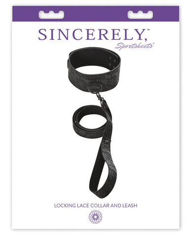 Sportsheets Sincerely Locking Lace Posture Collar & Leash