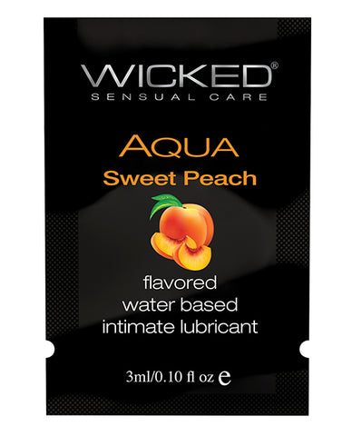 Wicked Sensual Care Waterbased Lubricant - .1 oz Sweet Peach