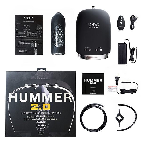 The Hummer 2.0 BJ Machine Rechargeable Masturbator - Black