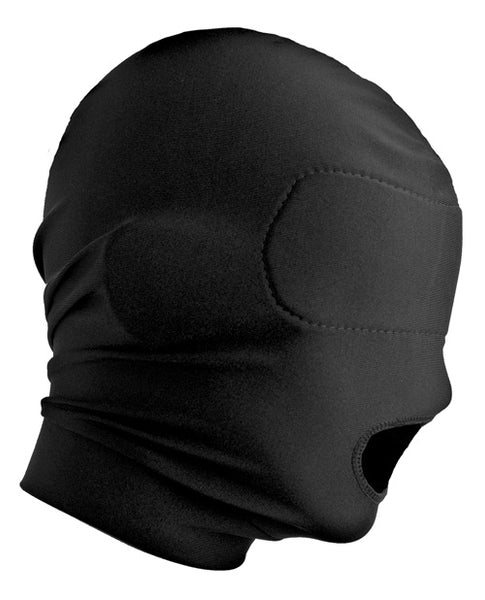 Master Series Disguise Open Mouth Hood With Padded Blindfold