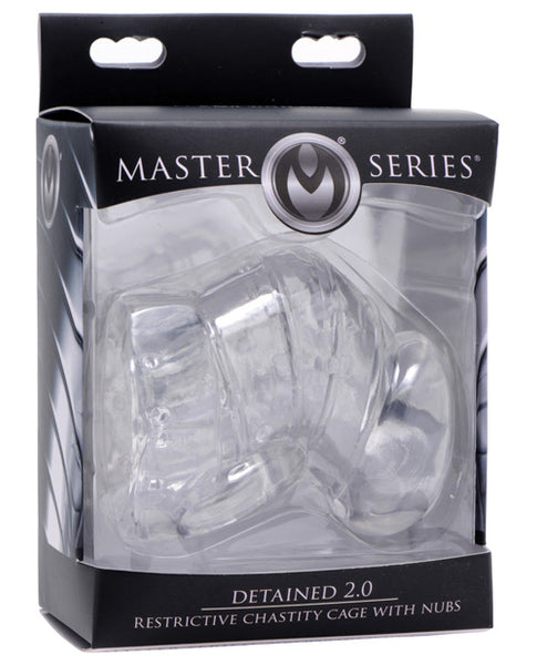 Master Series Detained 2.0 Restrictive Chastity Cage w/Nubs