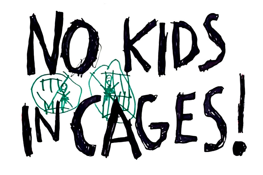 """No Kids In Cages"" Sticker"