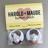 "Harold + Maude 1.25"" Button Pack"