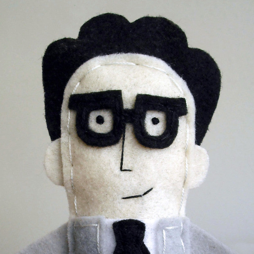 Ira Glass Felt Finger Puppet