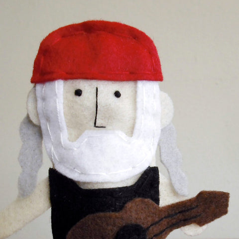 Willie Nelson Finger Puppet