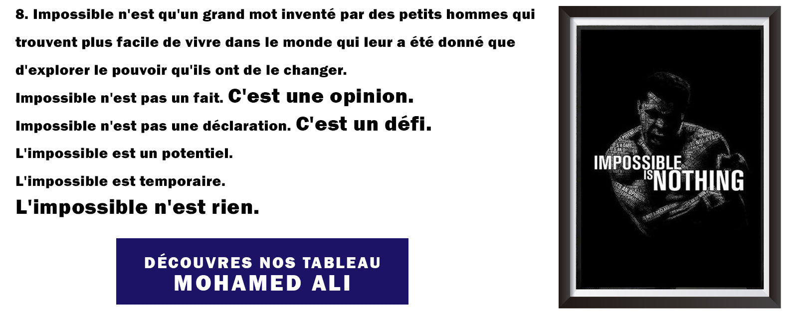 impossible is nothing tableau mohamed ali