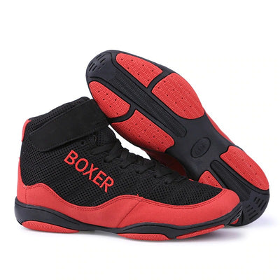 Chaussure boxeur anglaise rouge