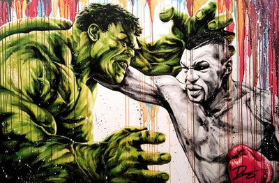 Poster Mike Tyson Vs Hulk