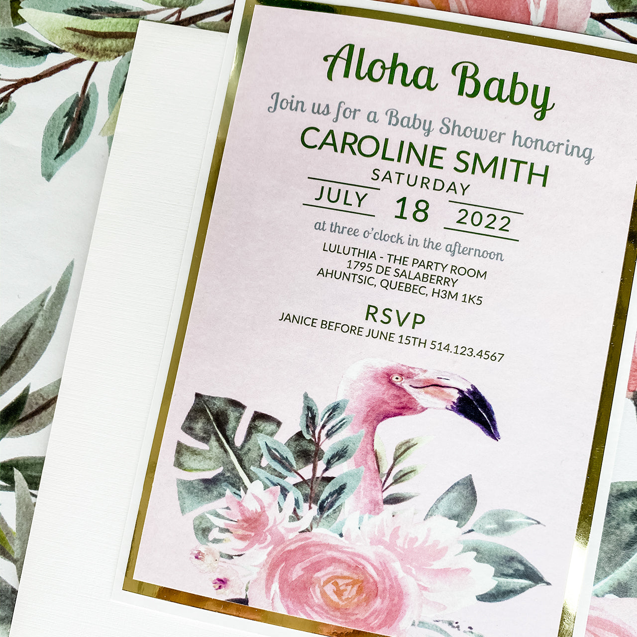 ALOHA BABY INVITATION CARD